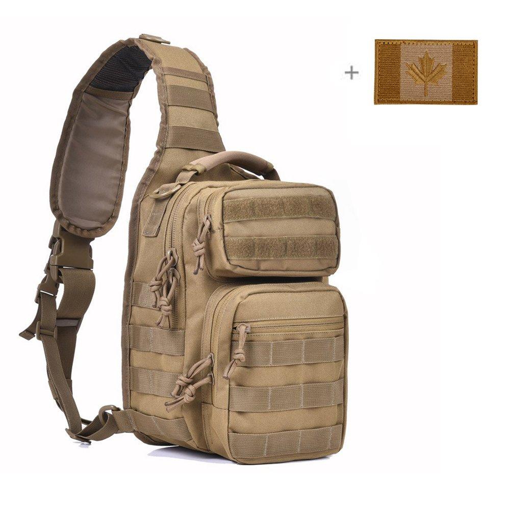 Coolton Tactical Sling Bag, Tactical Bag / Sling Bag / Chest Bag Pack/ Army Military Molle Sling Bag Backpack/ Sling Backpack/ Hiking Daypack For Hunting Camping Trekking