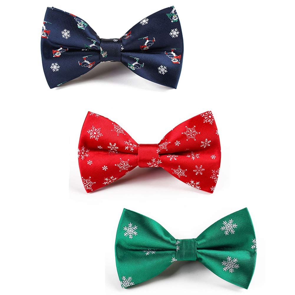 Christmas Bowtie Mens Bow Tie Adjustable Bowties Polyester Bow Ties for Men