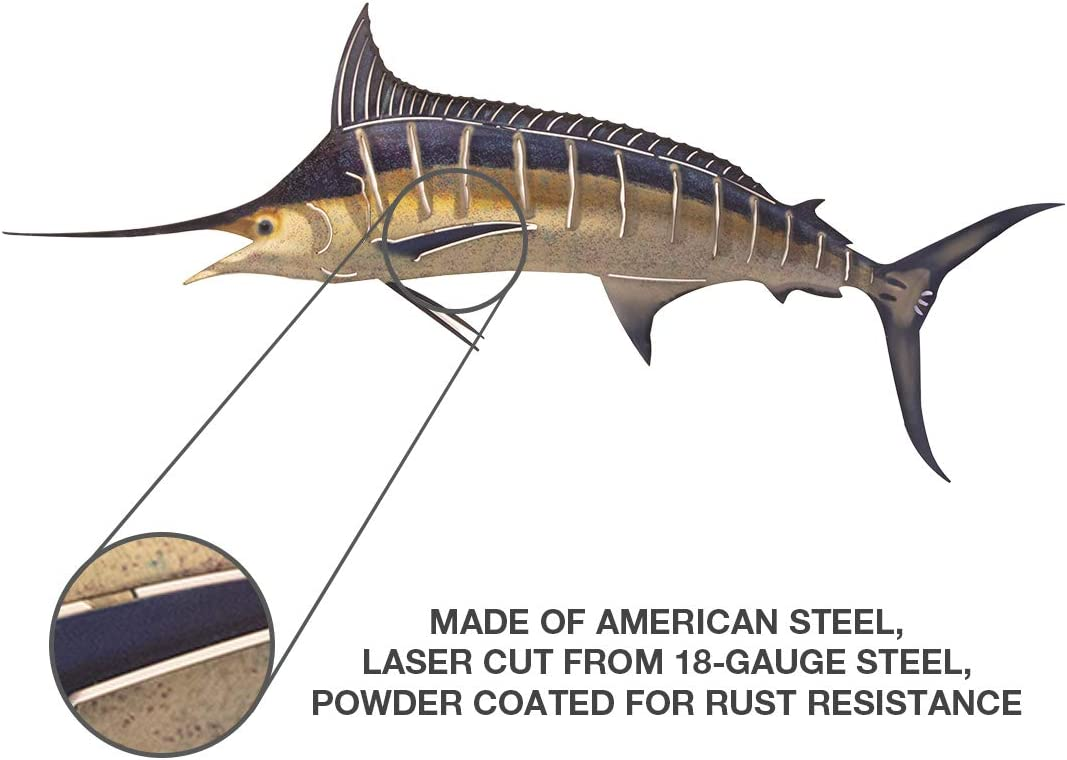 Amazon Com Next Innovations Marlin 3d Metal Wall Art Fish Wall Décor Large Prints Garden Outdoor