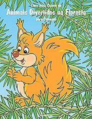 Livro para Colorir de Animais Divertidos na Floresta para Crianças