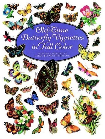 Old-Time Butterfly Vignettes in Full Color (Dover Pictorial Archive Series)