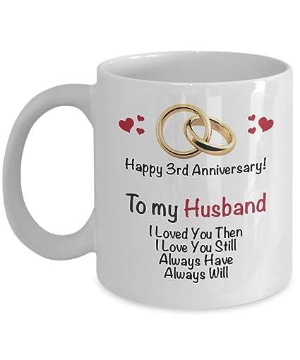 Amazon Happy 3rd Anniversary Mug Husband 3 Year Wedding