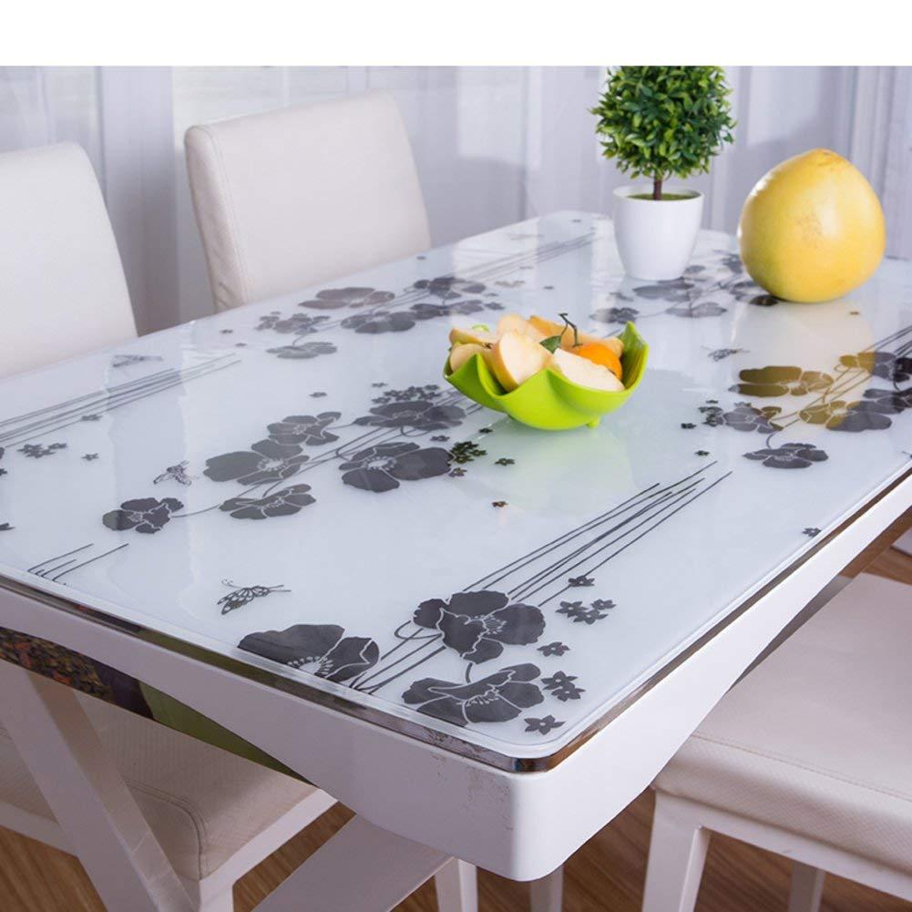 Shuangdeng PVC防水油布軟質ガラスつや消しテーブルクロス (Color : C, サイズ : 80x130cm(31x51inch))   B07RSWZ83F
