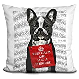 LiLiPi Hug a Frenchie Decorative Accent Throw Pillow