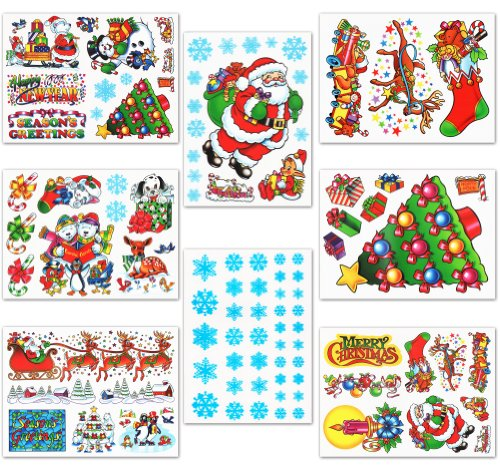 Amazoncom Christmas Window Clings Decals Home Kitchen - Window decals amazon