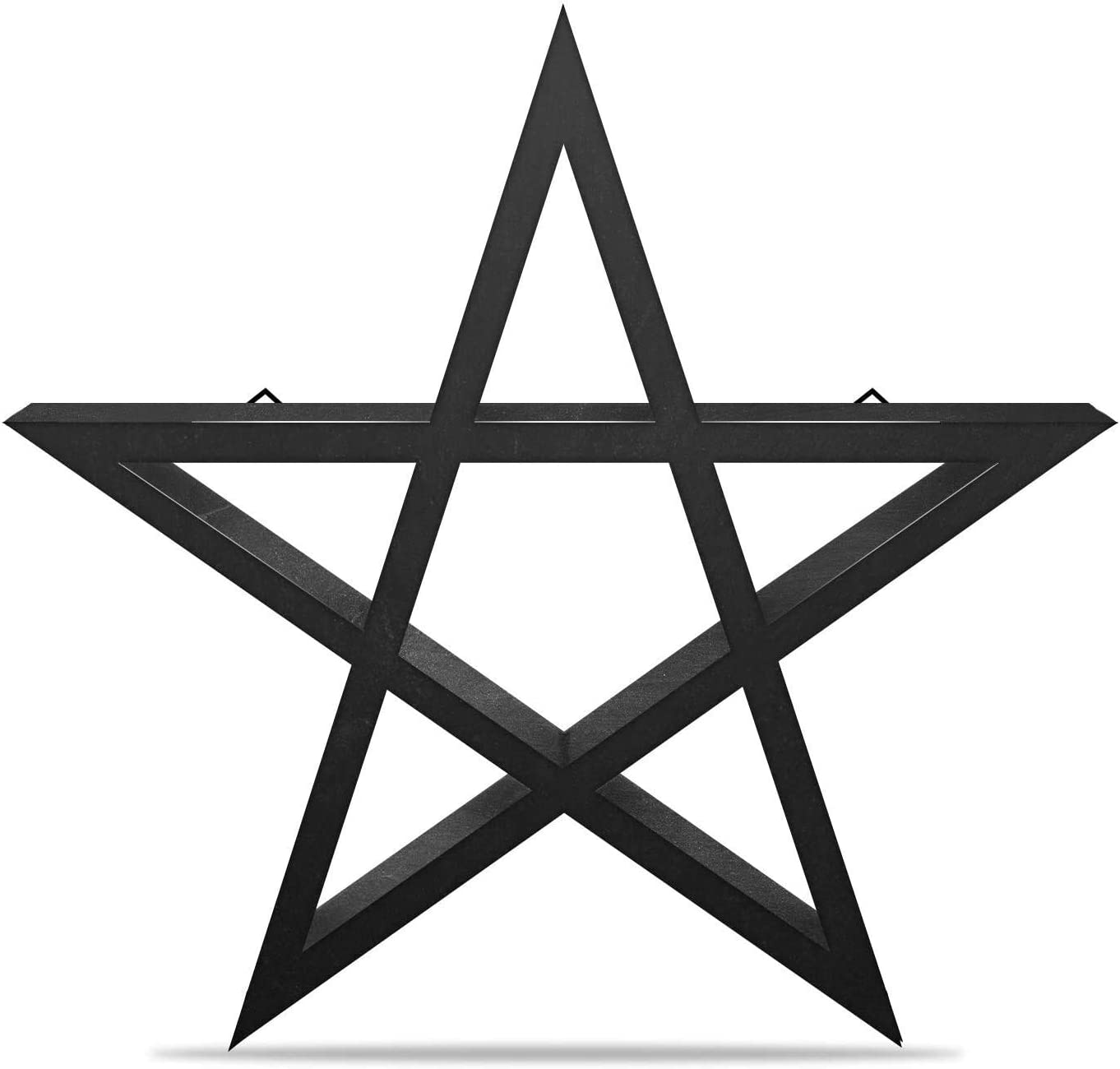 Gothic decor, witch decor Pentagram star Shelf -Perfect for Halloween, goth decor, or witchy room decor. This goth decor star shelf is a great horror or Halloween room decor. 14 in x 2 in deep