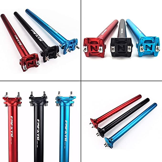 Bike Seat Post 25.4//27.2//28.6//30.4//30.8//31.6 350mm Aluminum Adjustable Bicycle SeatPost Suitable for Most Mountain Bike Fixed Gear Bike Seat Post MTB MTN BMX