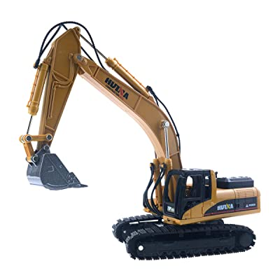 HobbyMarking Engineering Car 1/50 Scale Diecast Truck Vehicle Models for Metal Construction Toy Kids Gift (Excavator): Toys & Games