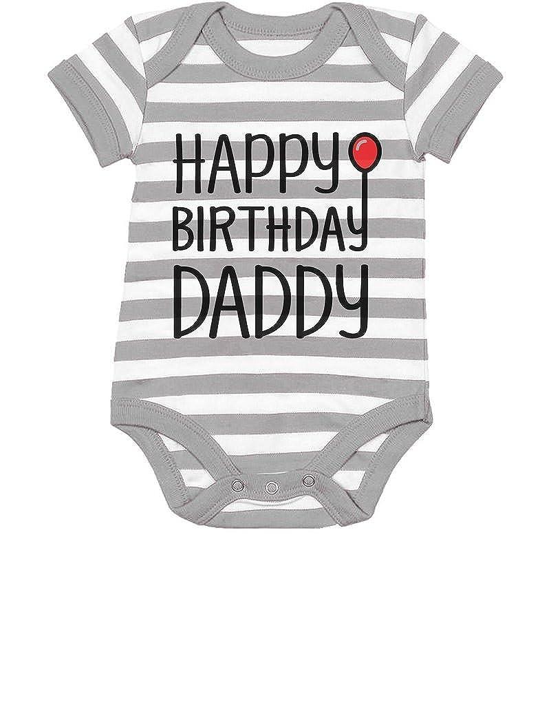 Happy Birthday Daddy Cute Boy//Girl Infant Dads Gift Baby Bodysuit TeeStars