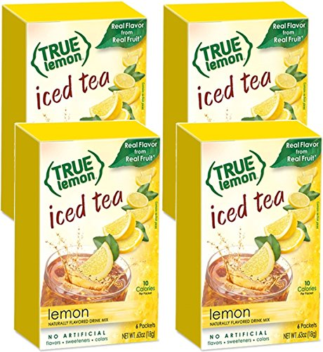 LEMON ICED TEA MIX by TRUE LEMON | Instant Powdered Drink Pa