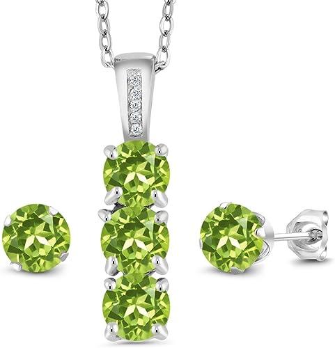Hot Square Cubic Zirconia Earrings Peridot Stud Austrian Crystal Dangle Jewelry