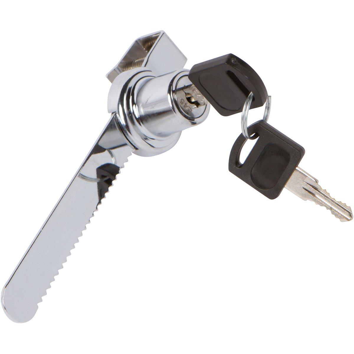 Sliding Glass Door Ratchet Lock With Chrome Finish Keyed