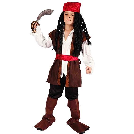 Amazon.com: Xinfu disfraz de pirata niños escuela ...