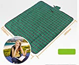 Doutless Bay Light Weight Portable Beach Oxford cloth Foldable Waterproof Camping Mat, Baby Crawling Mat, All-purpose Mat Perfect for Picnic, Beach, Traveling, Camping, Hiking, Foldable Mat (Green)