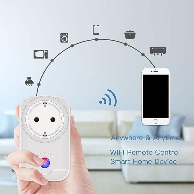 Wifi inteligente enchufe, HiWild trabajo con Amazon Alexa para iOS Android App No Hub necesaria WiFi Control todos sus dispositivos Donde siempre son ...