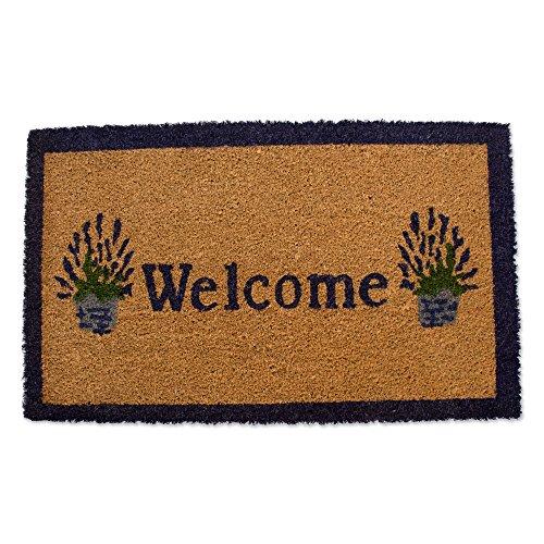 - Natural Coir Coco Fiber Non-Slip Outdoor/Indoor Doormat, 18x30