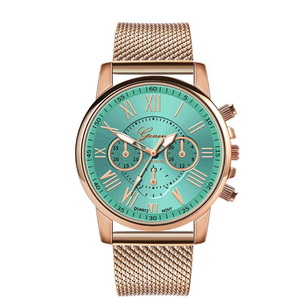 Pocciol Fashion Military Stainless Steel Quartz Watch Womens Casual Watch Luxury Analog Wristwatch (Green) by Pocciol Cheap-Nice Watch (Image #1)