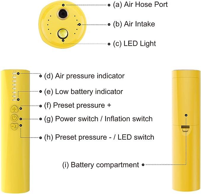 Basket-Ball avec Aiguille /à air Volley-Ball morpilot Pompe /à Ballon /électrique Pompe /à air Automatique pour Football Rugby Sport Portable