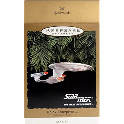 Hallmark Star Trek The Next Generation U.S.S. Enterprise Blinking Light Keepsake Ornament: Home & Kitchen