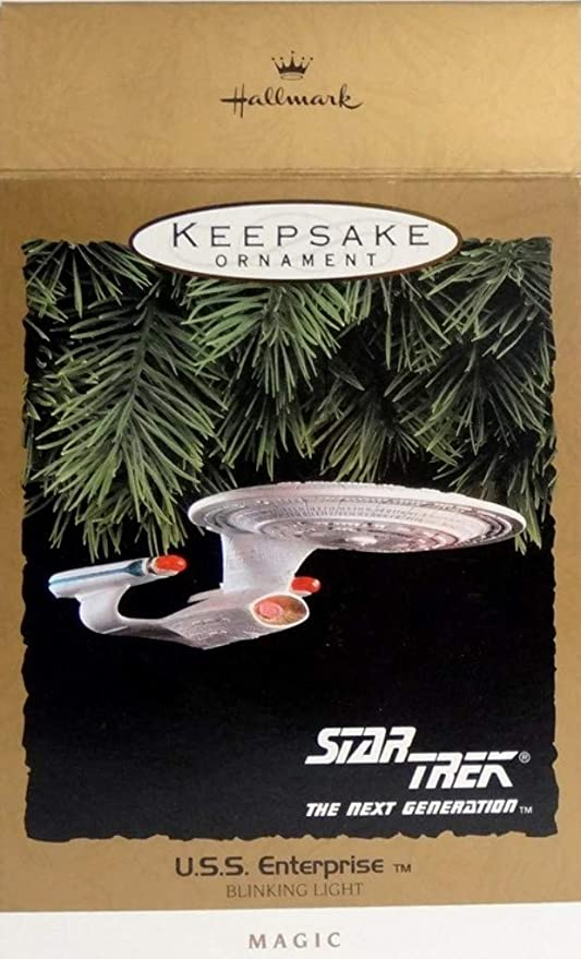 Set Of 4 3D Printed Star Trek Ornaments.