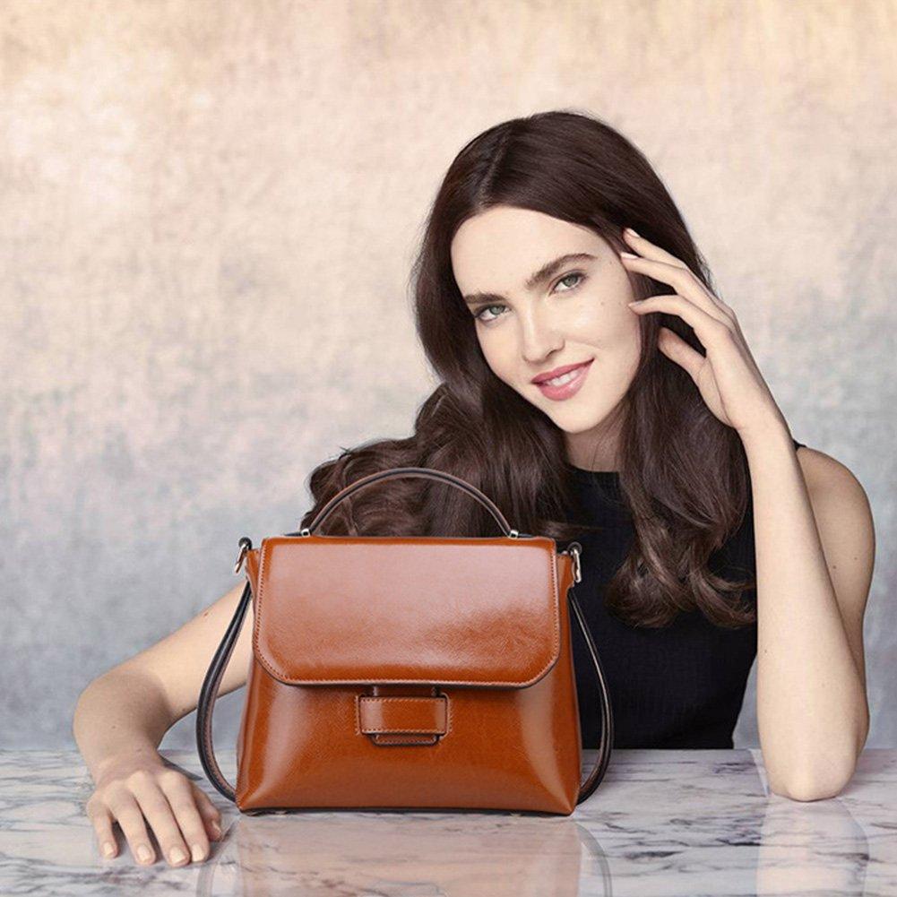 MuLier Women Top Handle Satchel Handbags Shoulder Bag Top Purse Messenger Tote Bag HB-013-Winered