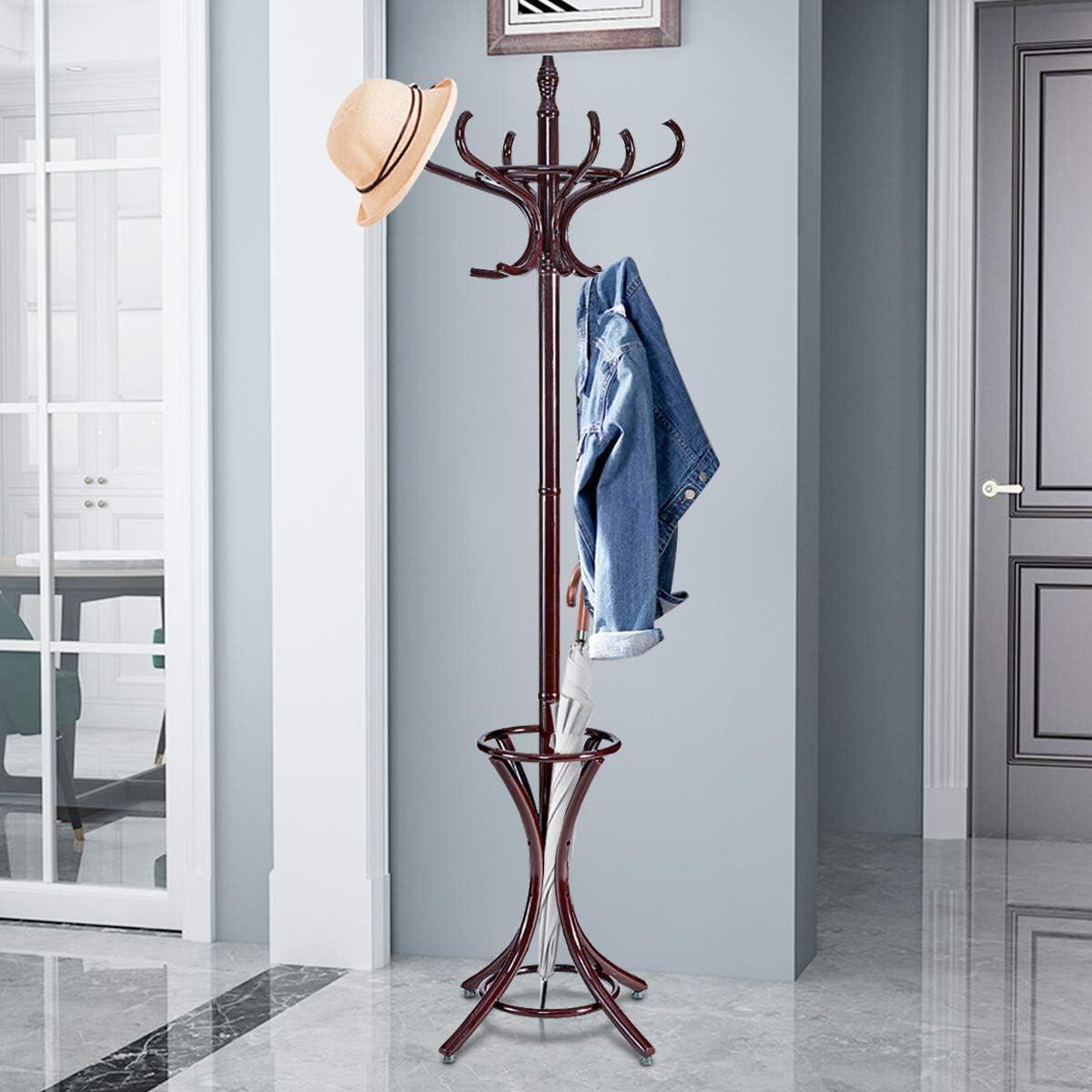 """Tangkula 75.5"""" Standing Coat Rack"""