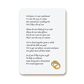 Ekunstreet 24x Golden Rings Wedding Honeymoon Wish Money Gift