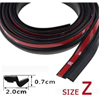 Andoer 5Meters Big D Small D Z Shape P Type Car Door Seal Strip Auto Rubber Seal Strips Waterproof Trim Dustproof Sound Insulation Weatherstrip Big D Small D Z P Type