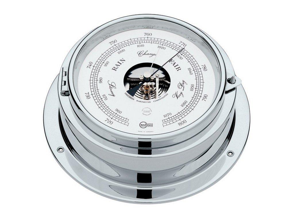 Barigo Marine Bullaugen-Schiffsbarometer - Doppeldose 1613CR