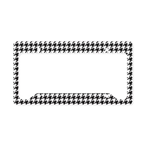 Amazon.com: CafePress - Houndstooth License Plate Holder - Aluminum ...