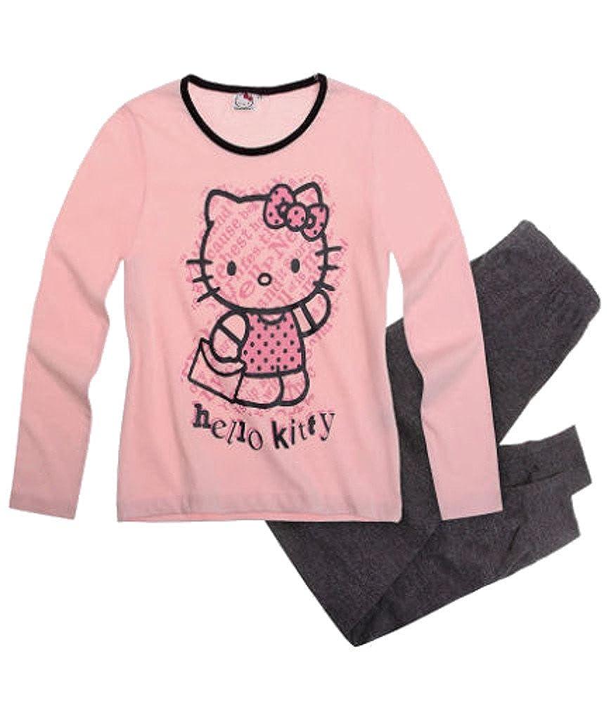 Hello Kitty niña Pijama/Pijama Rosé - Antracita: Amazon.es: Ropa y accesorios
