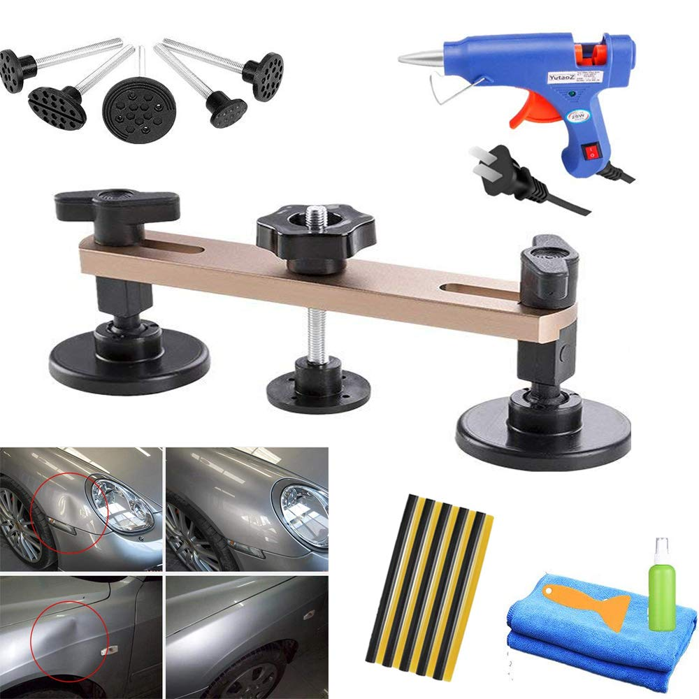Zevain Pops a Dent Puller Bridge Dent Repair Tools PDR Kit Paintless Dent Repair Remover for Auto Body Motorcycle Refrigerator Washing Machine