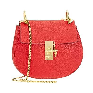 b26eb819de41 Image Unavailable. Image not available for. Color  Chloe Drew Calfskin  Leather Shoulder Bag - Plaid Red