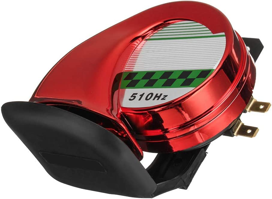 housesweet 130DB 510Hz Elektrische Laute Schnecke Sirene Hupe Lautsprecher Auto Motorrad LKW Boot Universal