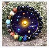 OTTATAT Unquie Solar System Eight Planet Themed Natural Stone Beaded Bracelet for Men Women Girls Jewelry