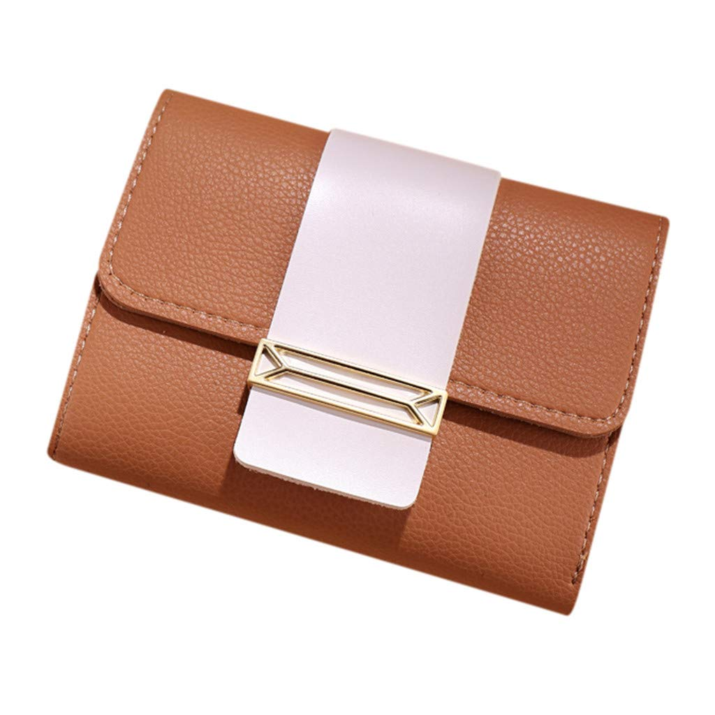 TIFENNY Small square package Wallet For Women Short Style Leisure Contrast Color Small Fresh Coin Purse Card Holder Bag