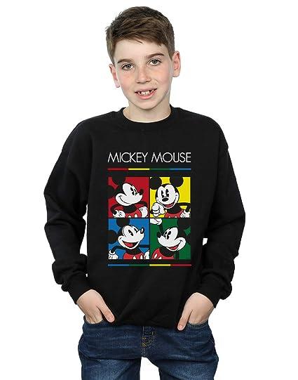 Disney Niños Mickey Mouse Square Colour Camisa De Entrenamiento: Amazon.es: Ropa y accesorios