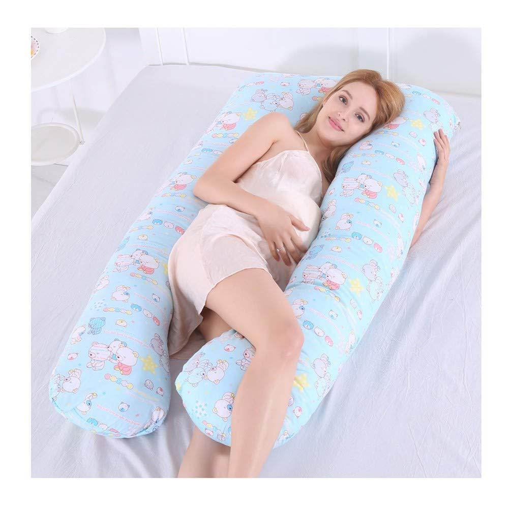 Amazon.com: Almohada lumbar de algodón en forma de U ...