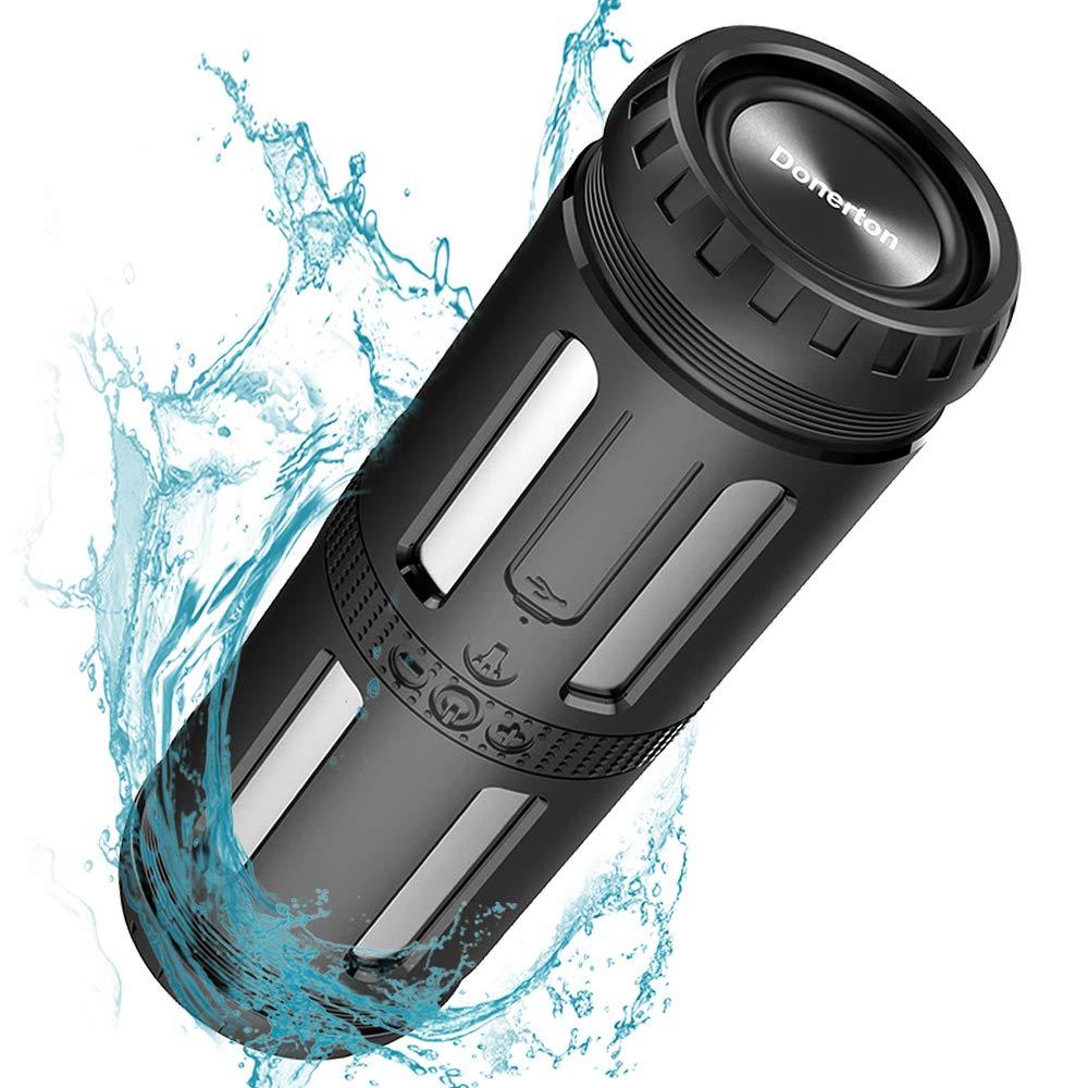 Bluetoothスピーカー 防水ポータブルスピーカー 大音量ステレオサウンド 30時間再生 重低音強化 マイク内蔵 防塵 耐衝撃 ハンズフリー通話 5200mAh パワーバンク パーティー プール キャンプに   B07KCJHJR5