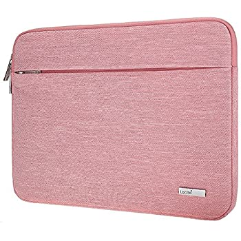 Lacdo 15.6 Inch Water Repellent Laptop Sleeve for ASUS, Toshiba, Acer Aspire, Dell Inspiron, Lenovo, HP, Carrying Case Protective Notebook Bag, Pink