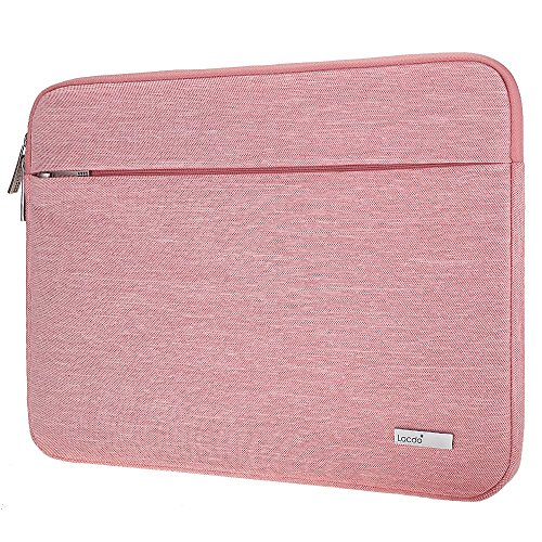 Lacdo 15.6 Inch Laptop Sleeve Bag for Acer Aspire/Predator, Toshiba, Dell Inspiron, ASUS P-Series, HP Pavilion, Lenovo, MSI GL62M, Chromebook Notebook Carrying Case Tablet, Water Resistant, Pink