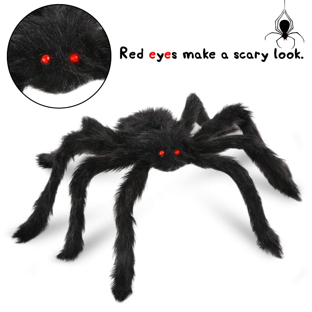Silingsiling Halloween Decorations Realistic Spider Decor Halloween