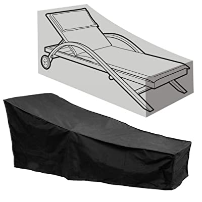 "AsiaCreate Patio Chaise Lounge Covers,Outdoor Waterproof Lounge Chair Covers,86""x34""x30"",Black: Sports & Outdoors"