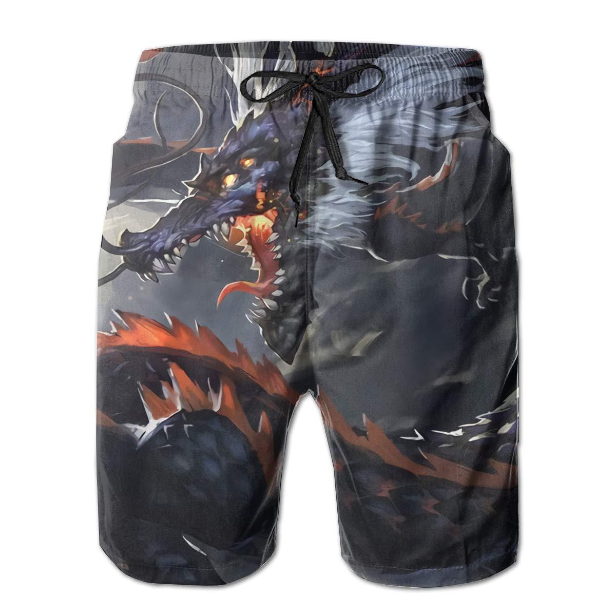 Black Dragon Mens Slim Fit Ultra Quick Dry Board Shorts Swim Trunks,Best Board Shorts for Sports Running