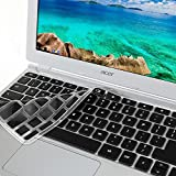 """GMYLE Black Silicon Keyboard Cover for Acer 11.6"""" Chromebook CB3-111-C670 CB3-111-C8UB (US Layout) (Not Fit For Acer CB3-131-C3SZ)"""