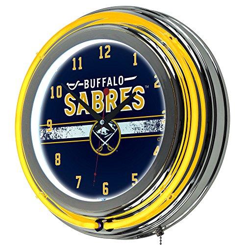 (Trademark Gameroom NHL Buffalo Sabres Chrome Double Rung Neon)