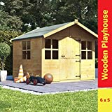 BillyOh Lollipop Junior Childrens Wooden Playhouse 6 x 5