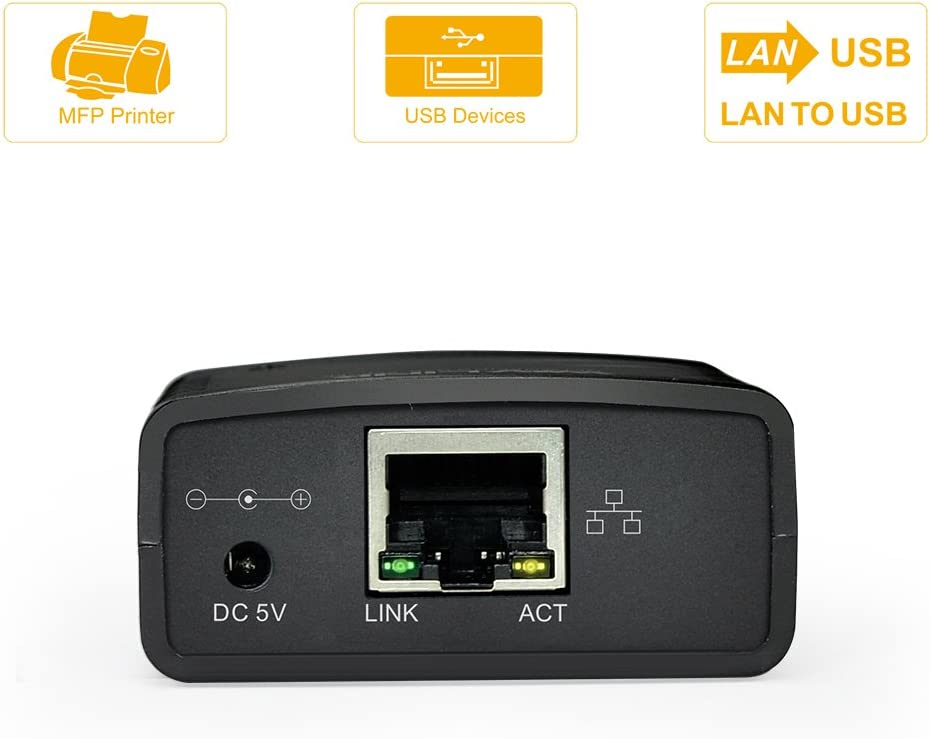 Wavlink Print Server 10 100mbps Ethernet To Usb 2 0 Computers Accessories