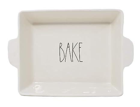 Amazoncom Rae Dunn By Magenta Bake Ceramic Ll 105 X 9 X 275