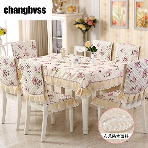 Peach Blossom Printed Table Cloth 13 Pcs Antislip Tablecloth Suit Orchid Printed Table Cover Wedding Tablecloth Tafelkleed  lanhuazi B07SHV5PFR
